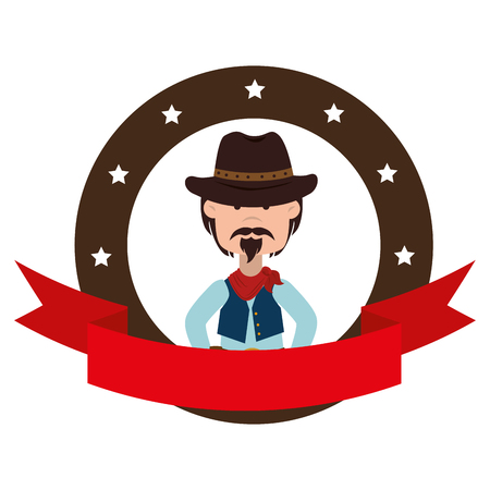 bandits: cowboy character wild west icon vector illustration design