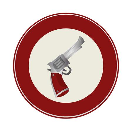 gun wild west icon vector illustration design Illustration