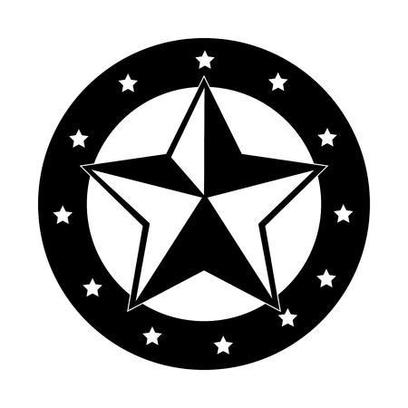 ranger: sherif medal emblem icon vector illustration design