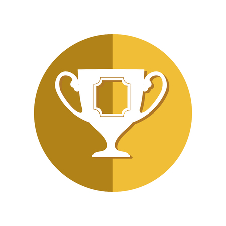 trophy winner isolated icon vector illustration design Illustration