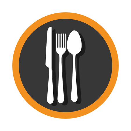 set cutlery tools icons vector illustration design Illusztráció