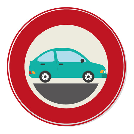 car sedan vehicle icon vector illustration design