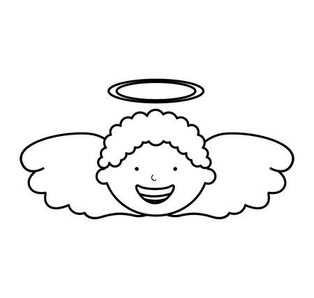 amur: little boy angel character vector illustration design