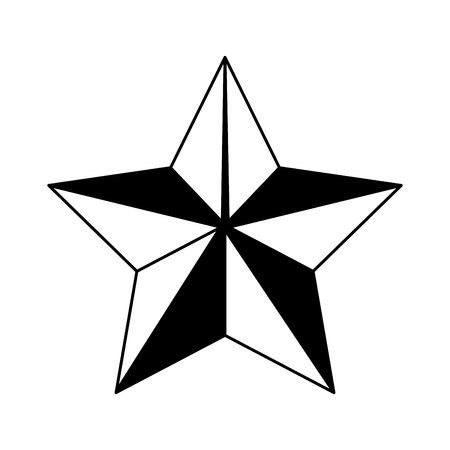 star emblem isolated icon vector illustration design