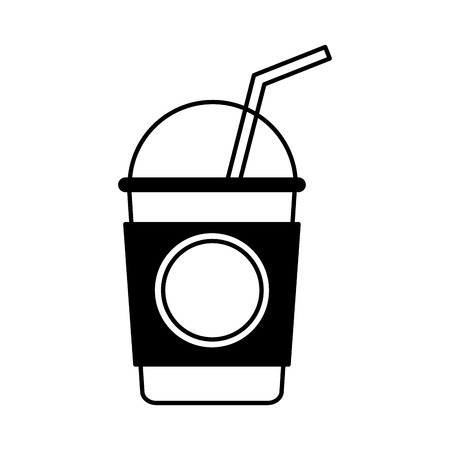 coffe break: coffee glass drink isolated icon vector illustration design