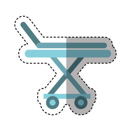 paciente en camilla: médico ensanchador aislado icono ilustración vectorial diseño Vectores