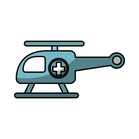 ambulance helicopter isolated icon vector illustration design
