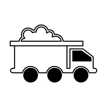 camion minero: mining truck vehicle isolated icon vector illustration design