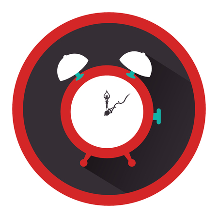 alarm watch time isolated icon vector illustration design Illustration