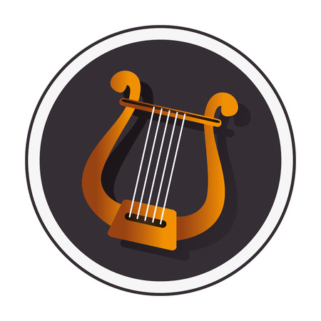 lyra: harp instrument isolated icon vector illustration design Illustration