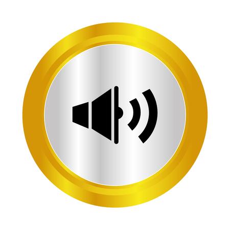 speaker sound isolated icon vector illustration design Illustration