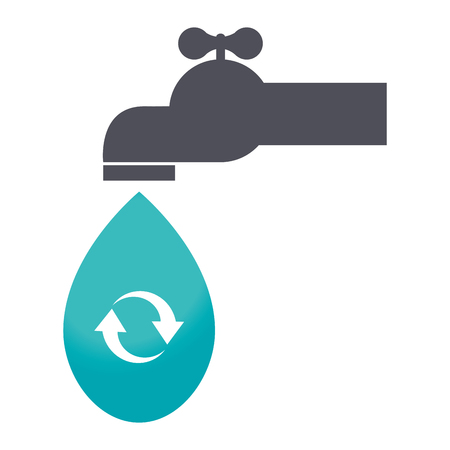spigot: save the water tap icon vector illustration design Illustration