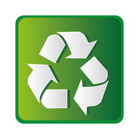 recycle ecology symbol icon vector illustration design