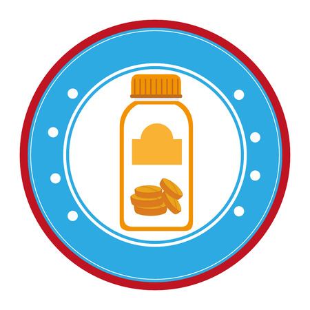 prescription bottles: medicine bottle isolated icon vector illustration design Illustration