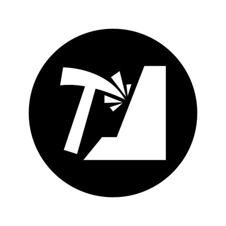 miniera pick isolato icona illustrazione vettoriale di progettazione Vettoriali