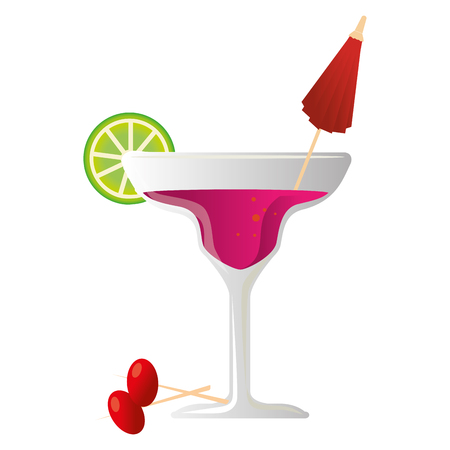 tropical cocktail drink icon vector illustration design