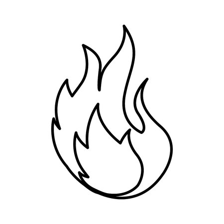flammable warning: fire flame sign icon vector illustration design Illustration