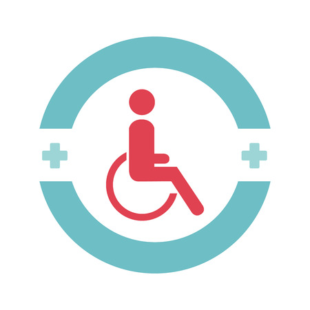 disable person in wheelchair vector illustration design Illustration