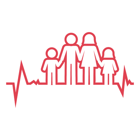 Familie Gesundheitswesen Symbol Vektor-Illustration, Design, Vektorgrafik