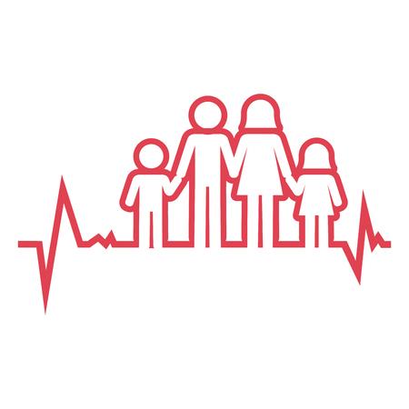 familie gezondheidszorg pictogram vector illustratie ontwerp Stock Illustratie