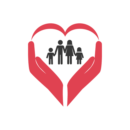 family health care icon vector illustration design