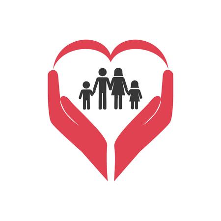 familie gezondheidszorg pictogram vector illustratie ontwerp
