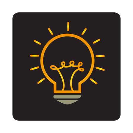 bulb light education icon vector illustration design Illustration