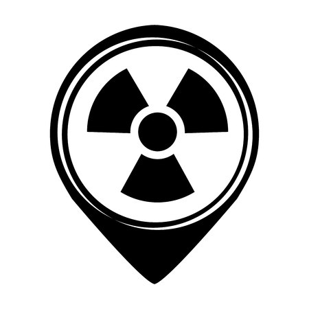 chemical hazard: nuclear plant isolated icon vector illustration design