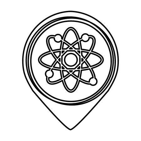 molecular sign isolated icon vector illustration design