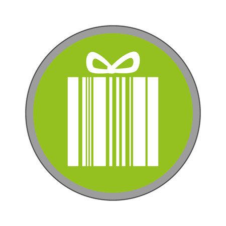 codigos de barra: giftbox present with barcode isolated icon vector illustration design