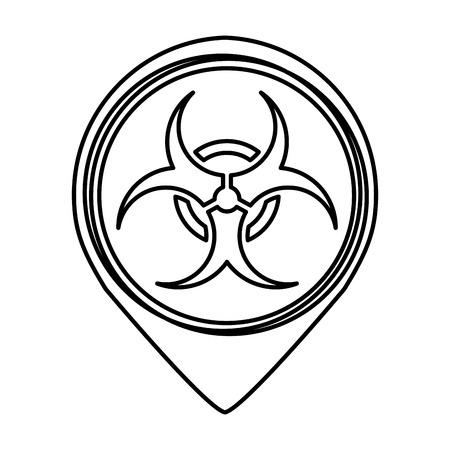 biohazard sign isolated icon vector illustration design