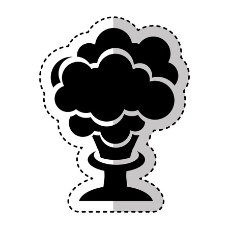 explosion chemical isolated icon vector illustration design