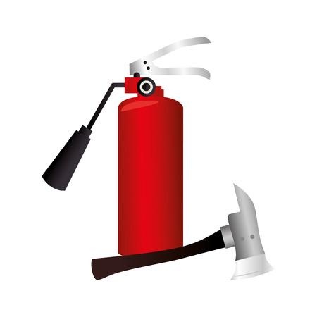 extinguisher fire sign icon vector illustration design