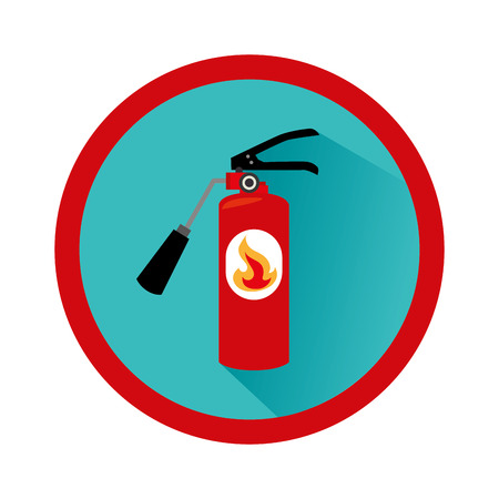 extinguisher fire sign icon vector illustration design