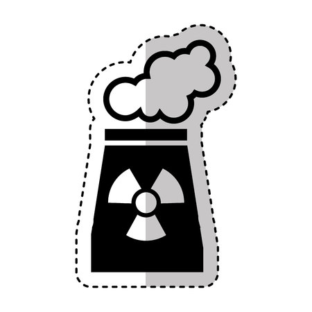 chemical hazard: chimney nuclear plant isolated icon vector illustration design