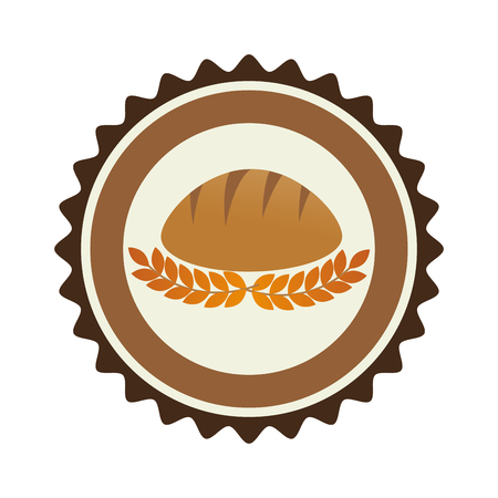 bake sale: bakery shop emblem icon vector illustration design
