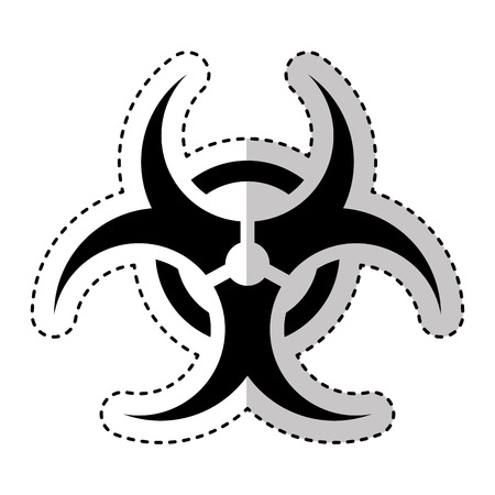 biohazard: biohazard sign isolated icon vector illustration design