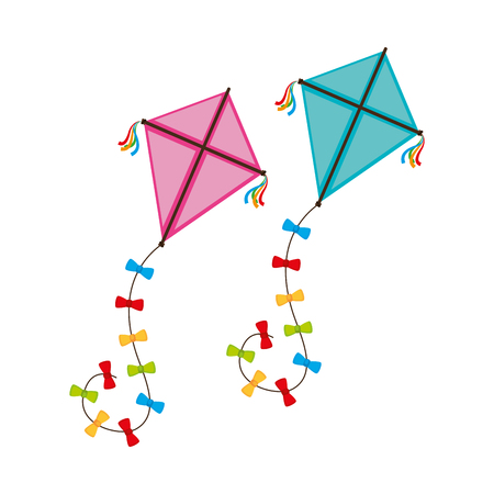 cute kite flying icon vector illustration design Ilustracja