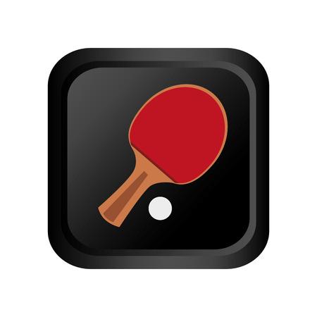 Table tennis sport emblem vector illustration design