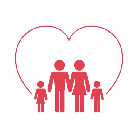 icône de soins de santé familiale conception d'illustration vectorielle