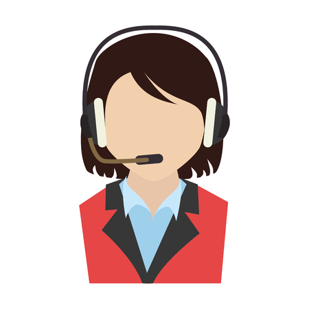 call center agent service icon vector illustration design Illustration