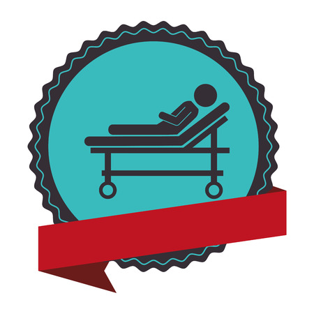 stretcher medical isolated icon vector illustration design Illustration