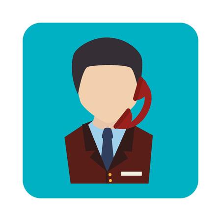 call center agent service icon vector illustration design Illustration