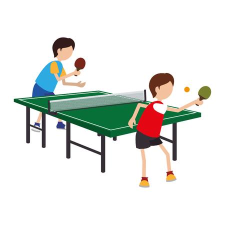 Table tennis player avatar vector illustration design Illustration