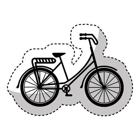 bonjour: bicycle drawing romanitc card vector illustration design