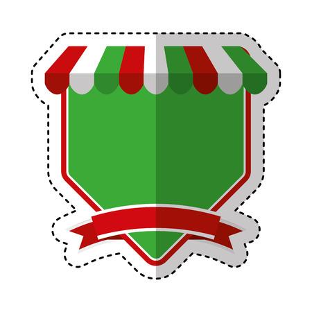 Pizza shop frame icon vector illustration design.