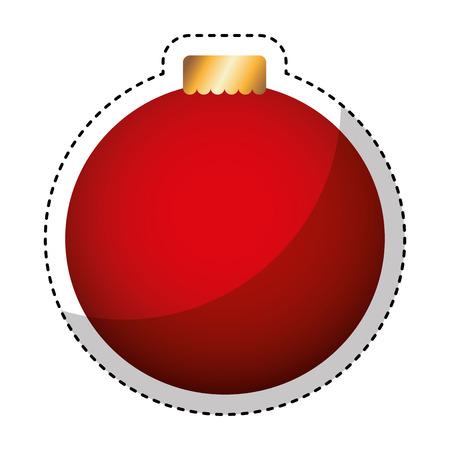merry christmas balls decorative card vector illustration design