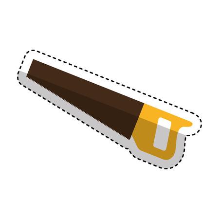 handsaw tool isolated icon illustration design. Illustration