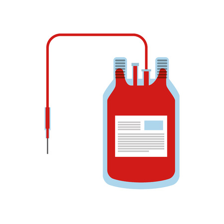 blood donation bag icon vector illustration design Illustration
