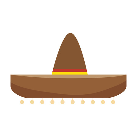 colorful traditional mexican hat design vector illustration